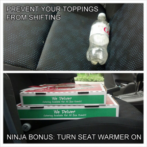Traveling Pizza Box in Car