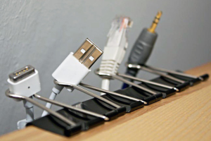USB Cords and Binder Clips